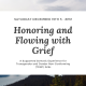 "[Image: White background over a picture of mountains with the words ""Saturday December 19th 5 - 8pm. Honoring and Flowing with Grief: A supported somatic experience for transgender and gender non-conforming (TGNC) folks""]"